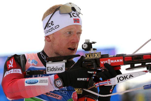 Johannes Bö kilpailee arvokas aikarauta ranteessaan.