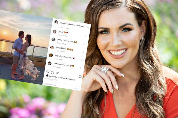 Michaela julkaisi romanttisen yhteiskuvan mysteerimiehen kanssa Instagramissa.