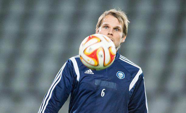 Kapteeni Markus Heikkinen johtaa HJK:n torstaina Krasnodarin vieraaksi Eurooppa-liigan karsintaan.