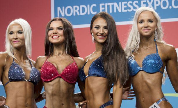 Marietta Kiianlinna (toinen oik.) onnistui täydellisesti lauantain kisassa.