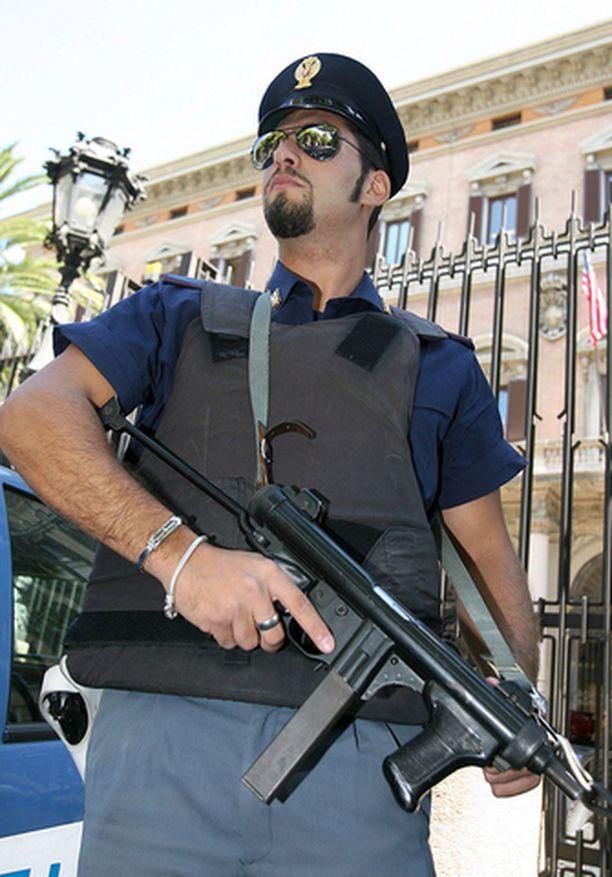 Poliisien on syytä olla tarkkana Italiassa pankkiryöstöjen varalta.