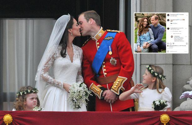 Prinssi William ja Catherine Middleton vihittiin 10 vuotta sitten.