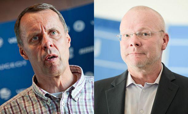 Jarmo Mäkelä (vas.) ja Vesa Harmaakorpi tyrmäävät kirjeen väitteet.