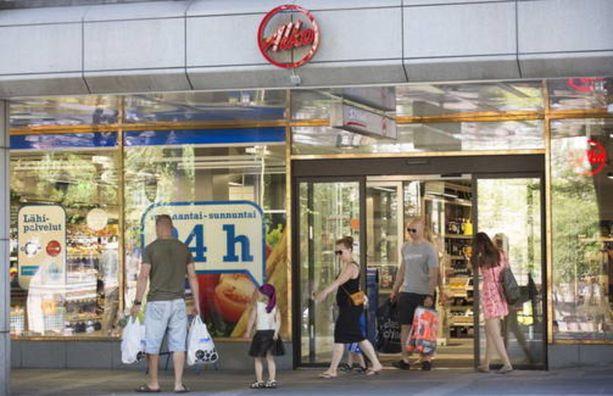 Alkon Eteläesplanadin myymälä Helsingissä kesällä 2014.