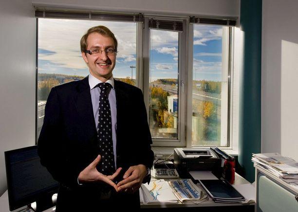 Taaleri Pääomarahastojen sijoitusjohtaja Tero Luoma on sijoittanut Taalerin kiertotalousrahaston varoja Sipilälle hyvinkin tuttuihin Volteriin ja Chempolikseen. Kuva vuodelta 2010.