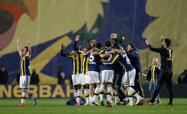 Fenerbahce juhli voittoa Galatasaraysta maaliskuun alussa.