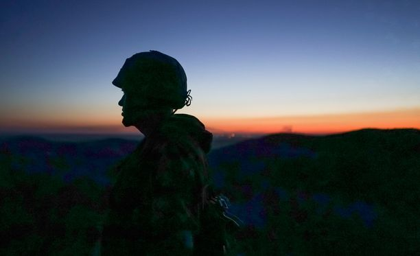 Kuva on otettu sunnuntaina Donetskissa Itä-Ukrainassa, jossa Etyjin tarkkailijat raportoivat tavanneensa Venäjän armeijan sotilaita.