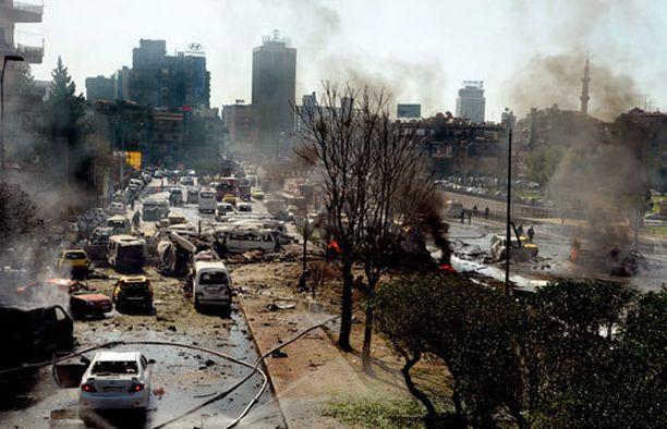 Damaskoksessa oli täysi kaaos räjähdyksen jälkeen.