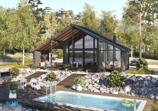 Tämä lomatalo sijaitsee Himoksen laskettelurinteen ja tulevan kylpylän välimaastossa.