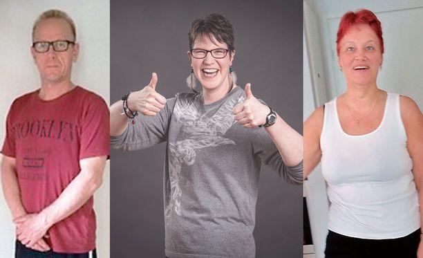 Jari, Mari ja Sirpa käyttivät kukin eri nettivalmennusta laihduttaessaan.