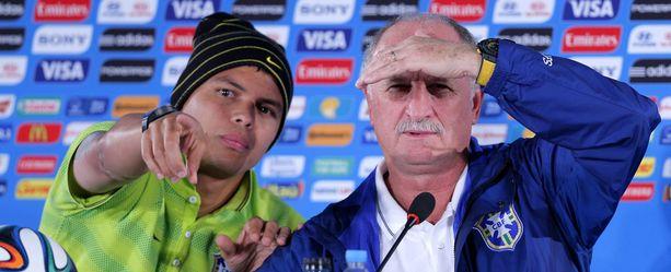 Kapteeni Thiago Silva ja valmentaja Luiz Felipe Scolari valmistautuvat pelaamaan pronssista.