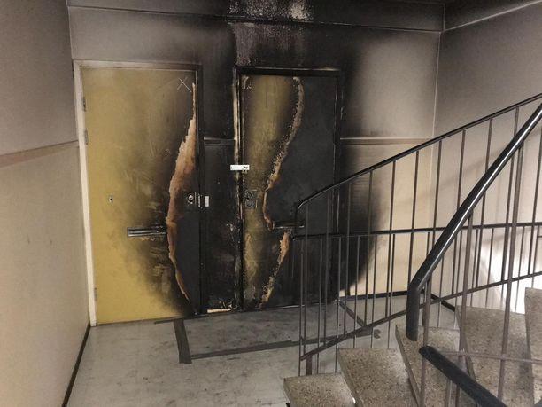 Tulipalo teki pahaa jälkeä.