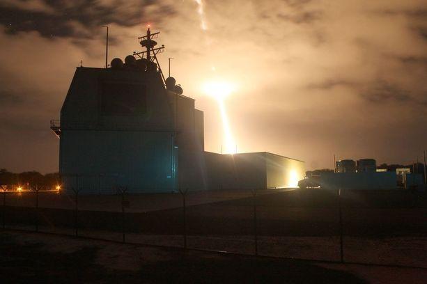 Ohjuspuolustusviraston testikeskus Havaijilla. Kuva onnistuneesta torjuntakokeesta viime elokuulta.