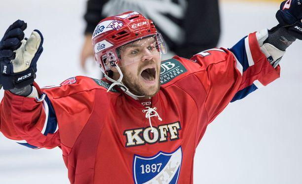 Siim Liivik ampui HIFK:n voittomaalin KalPaa vastaan.