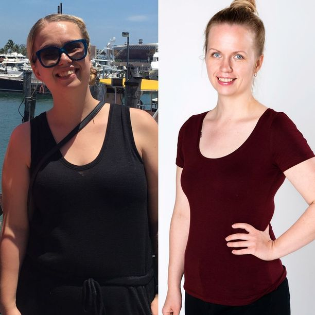 Mari Julku laihtui 20 kiloa yhdeksässä kuukaudessa rasiadieetin avulla. Marin tarinan ja rasiadieetin ohjeet löydät Hyvä olo -erikoislehdestä.