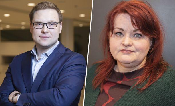 Apulaispormestari Daniel Sazonov (kok) tyrmää Tehyn Millariikka Rytkösen väitteet kartellista.