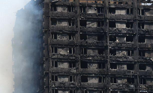 Lontoon tornitalon eristeen on todettu olleen paloherkkää.