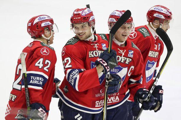IFK:n Teemu Eronen, Jarkko Malinen, Joonas Rask ja Patrik Carlsson pääsivät tehoille.
