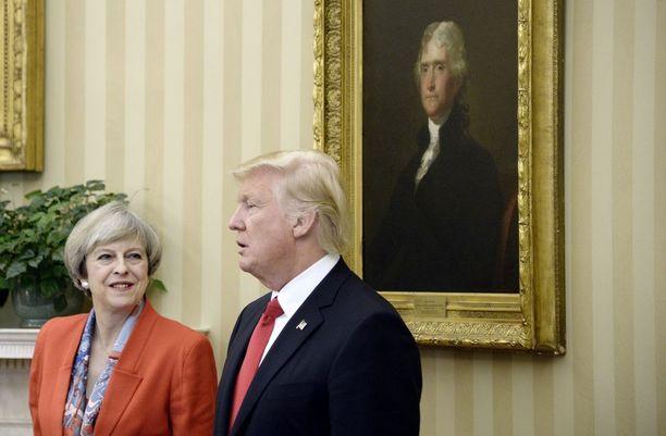 Britannian pääministeri Theresa May ja Yhdysvaltain presidentti Dnald Trump tapasivat perjantaina Washingtonissa.