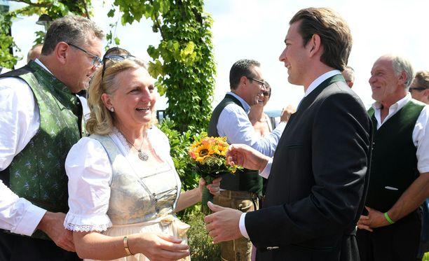 Häävieraana oli myös Itävallan liittokansleri Sebastian Kurz.