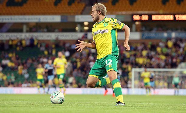 Teemu Pukki viimeisteli Norwichin voittomaalin.