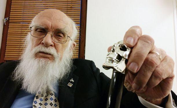 James Randi vieraili Think, Helsinki, Think! -tapahtumassa.