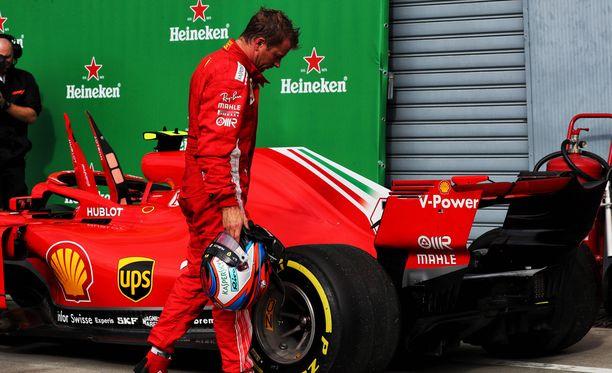 Kimi Räikkönen ihmetteli vasenta takarengastaan Monzan GP:n jälkeen.