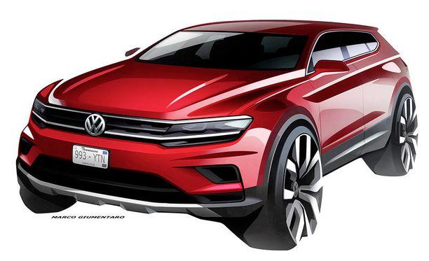 Virallinen havainnekuva Volkswagen Tiguan Allspacesta.