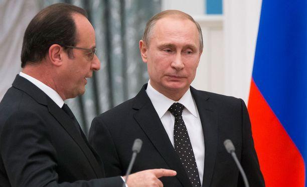 Ranskan presidentti Francois Hollande ja Venäjän presidentti Vladimir Putin tapasivat marraskuussa 2015 Moskovassa.