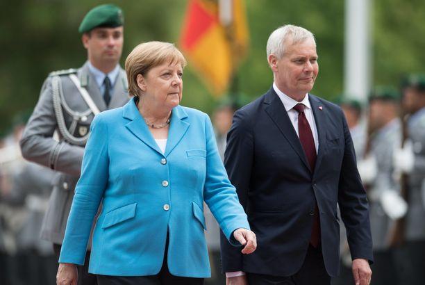Saksan liittokansleri Angela Merkel tapasi pääministeri Antti Rinteen keskiviikkona Berliinissä.
