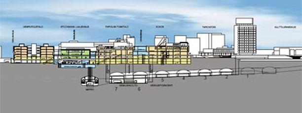 Tapiolan liikekeskuksen alle rakennetaan parkkiluola, josta pääsee tulevaisuudessa suoraan metroon.