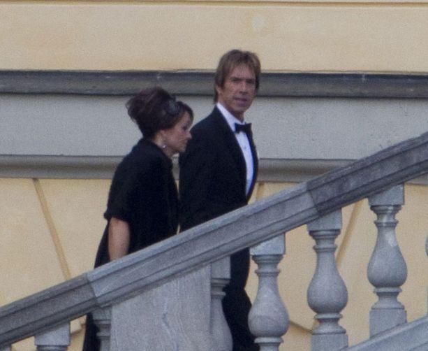 Per Gessle saapui iltajuhliin yhdessä vaimonsa Åsa Nordin-Gesslen kanssa.