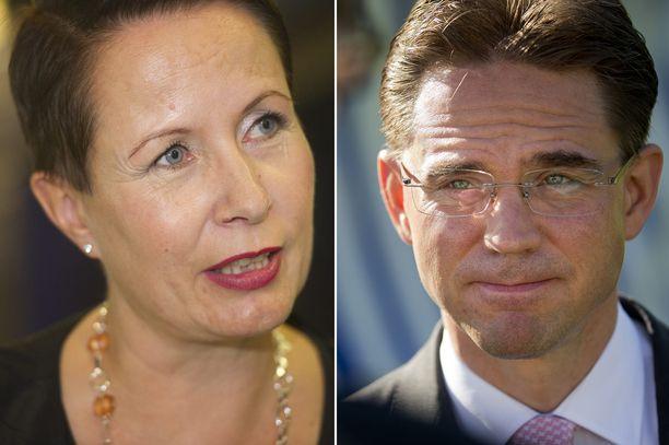 Muun muassa ex-ministerit ja -puoluejohtajat Suvi-Anne Siimes (vas) ja Jyrki Katainen (kok) pyrkivät Sitran yliasiamieheksi.