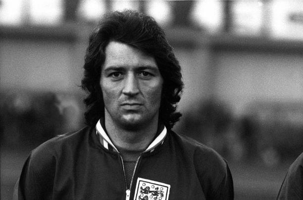 Frank Worthington edusti Englantia kahdeksan kertaa vuonna 1974.