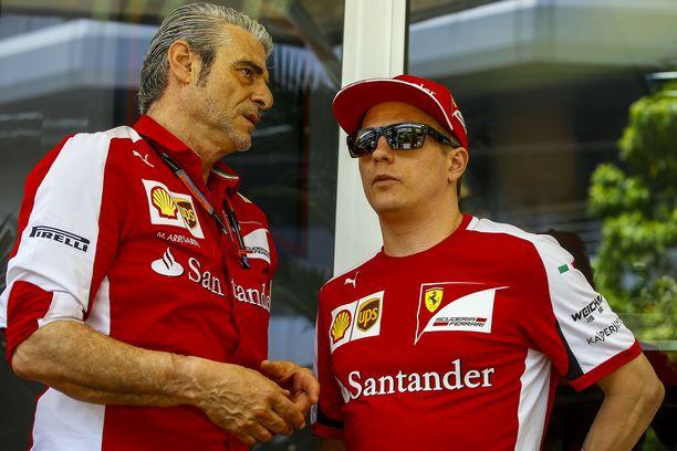Maurizio Arrivabene ja Kimi Räikkönen ovat viettäneet pian neljä yhteistä vuotta Ferrarilla.