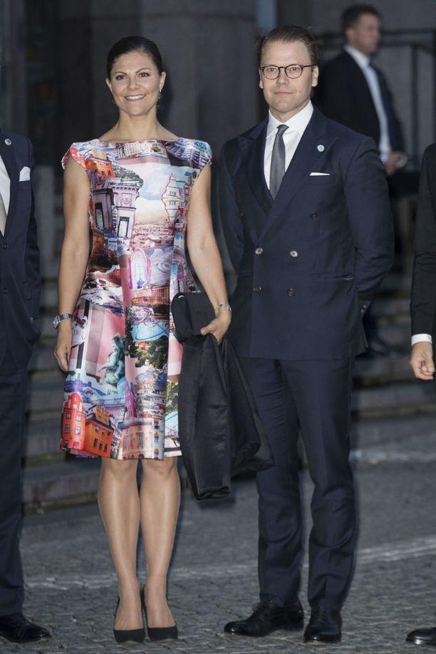 Victoria ja Daniel Ruotsin valtiopäivien avajaisiltamissa tällä viikolla.
