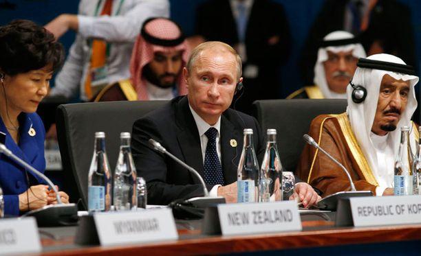 Venäjän presidentti osallistui G20-kokoukseen Australiassa.