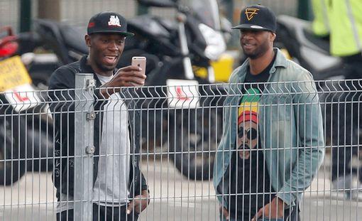 Usain Bolt ja Germaine Mason yhdessä Lontoossa viime elokuussa.