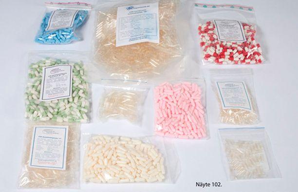 Epäillyn myyjän hallusta löytyi huomattava määrä muuntohuumeita.