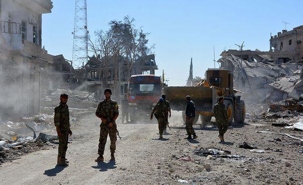 Äärijärjestö Isis on pitkälti luhistunut etenkin Irakissa. Kuva Isisin entisiltä alueilta Syyrian Raqqasta.