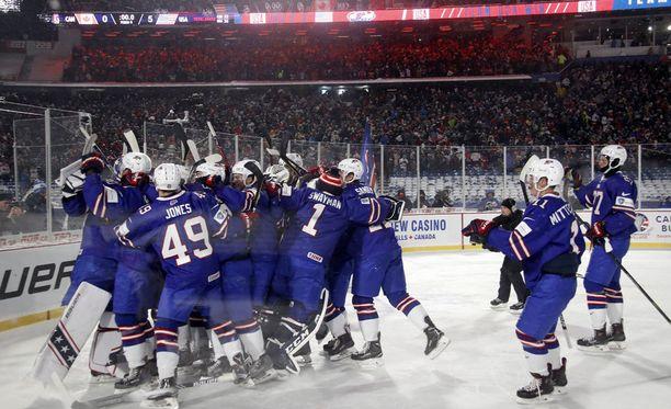 USA kärsi lohkossa aiemmin yllätystappion Slovakialle, mutta otti ison voiton Kanadaa vastaan.