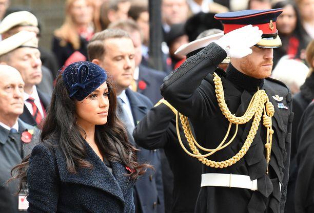 Vuonna 2019 Meghan ja Harry olivat näyttävästi mukana Remembrnace Dayn juhallisuuksissa Lontoossa.