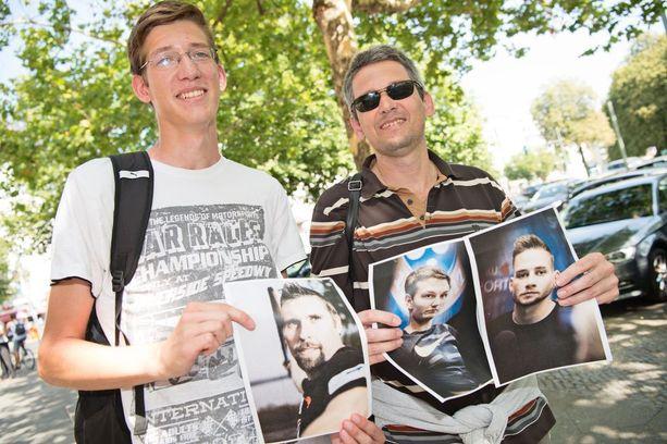 Jakub (vas.) ja Petr tunnistaisivat Tero Pitkämäen, mutta eivät kuvissa olevia keihästähtiä.