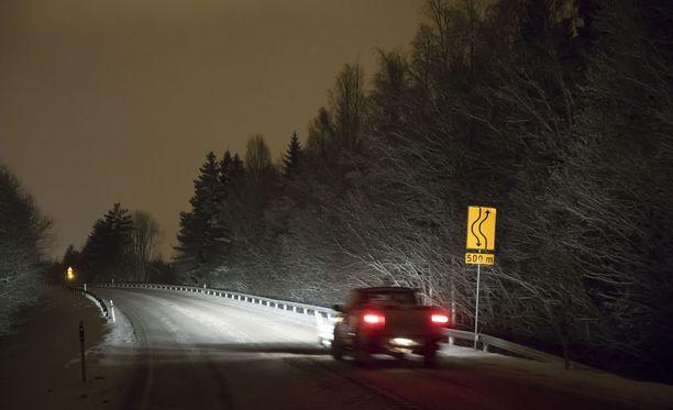 Onnettomuus tapahtui Lohjalla tiellä 25 tammikuussa.