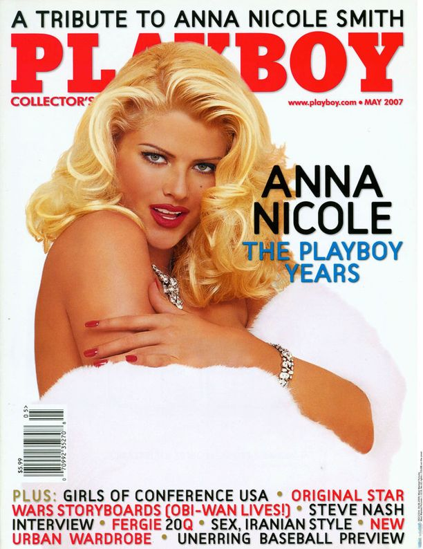 Anna Nicole poseerasi useaan otteeseen Playboy-lehdessä.