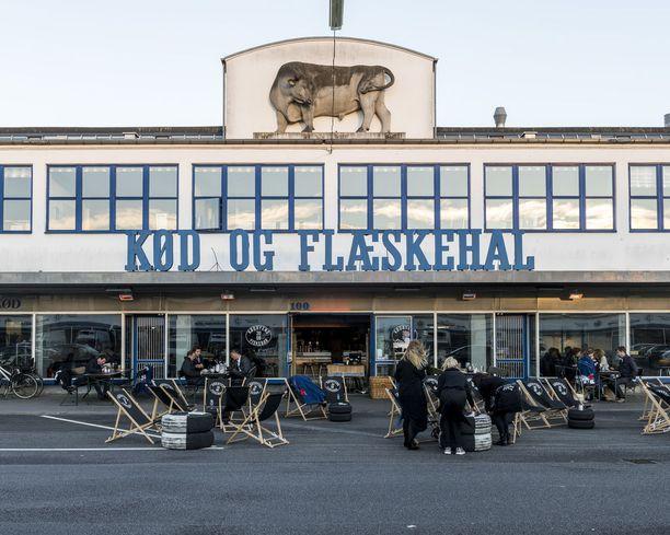 Versterbron Kødbyen on entinen teurastamoalue, joka on nykyään täynnä baareja ja ravintoloita.