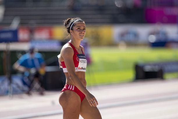Maria Huntington voitti Kalevan kisoissa elokuun puolivälissä ottelun kultaa.