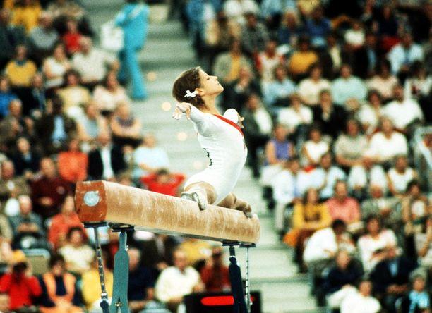 Olga Korbut menestyi loistavasti Münchenin olympialaisissa.