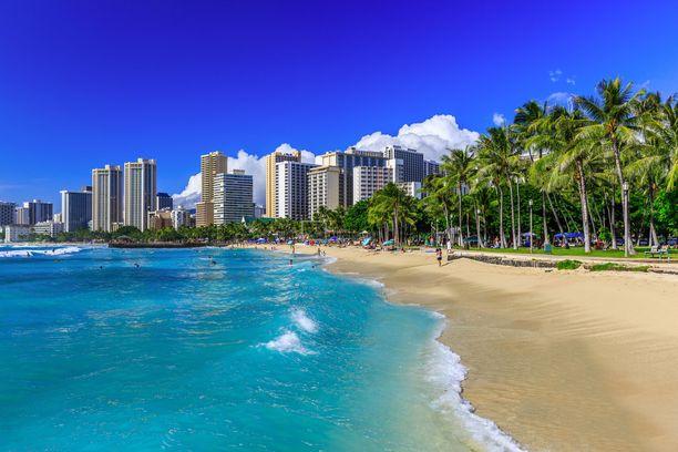 Tällainen on haavekuvien Waikiki Beach.