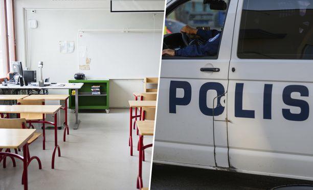 Poliisi mukaan kuopiolaiskouluihin kohdistuneet uhkaavat viestit koskettavat nyt kolmea alueen koulua.  Kuvituskuva.
